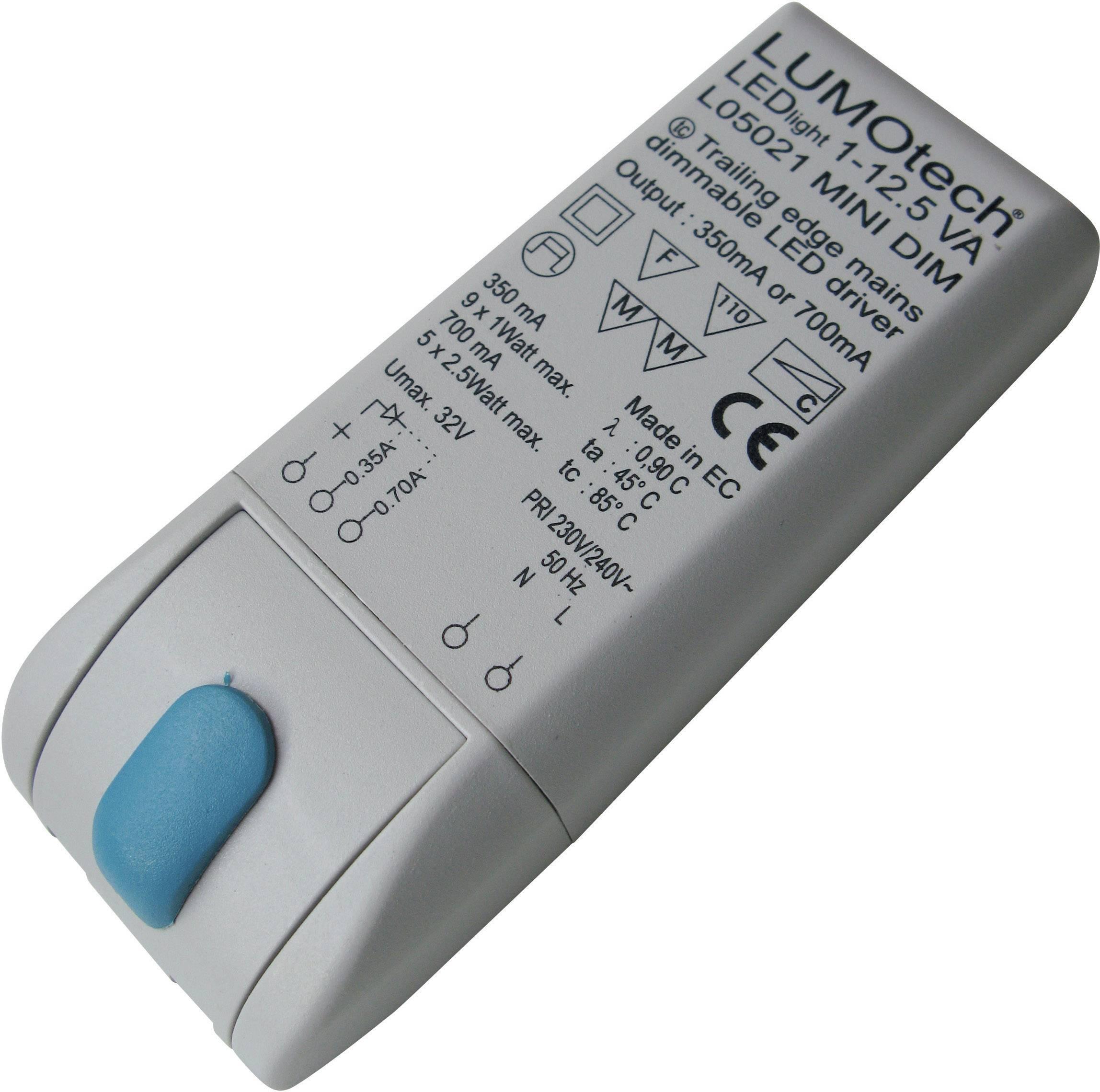 Stmívatelný LED driver, 230 V/AC, 350/700 mA