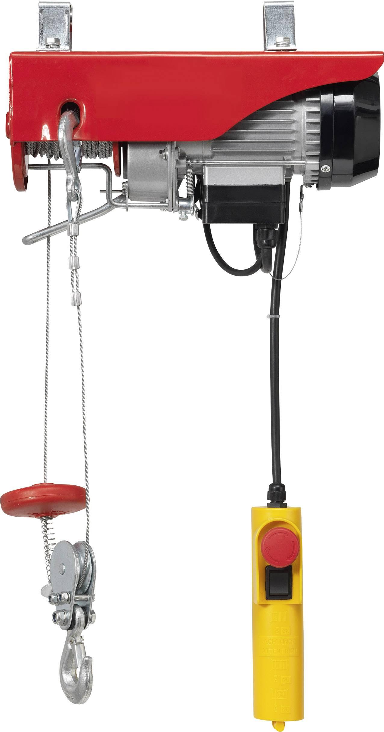 Elektrický lanový kladkostroj TOOLCRAFT 1550315, 125 kg/250 kg, zdvih 12000 mm/6000 mm