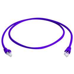 Sieťový prepojovací kábel RJ45 Telegärtner L00000A0226, CAT 6A, S/FTP, 1.00 m, purpurová