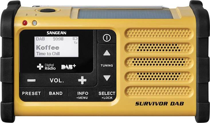 DAB+ outdoorové rádio Sangean Survivor (MMR-88), DAB+, USB, UKW, žltá