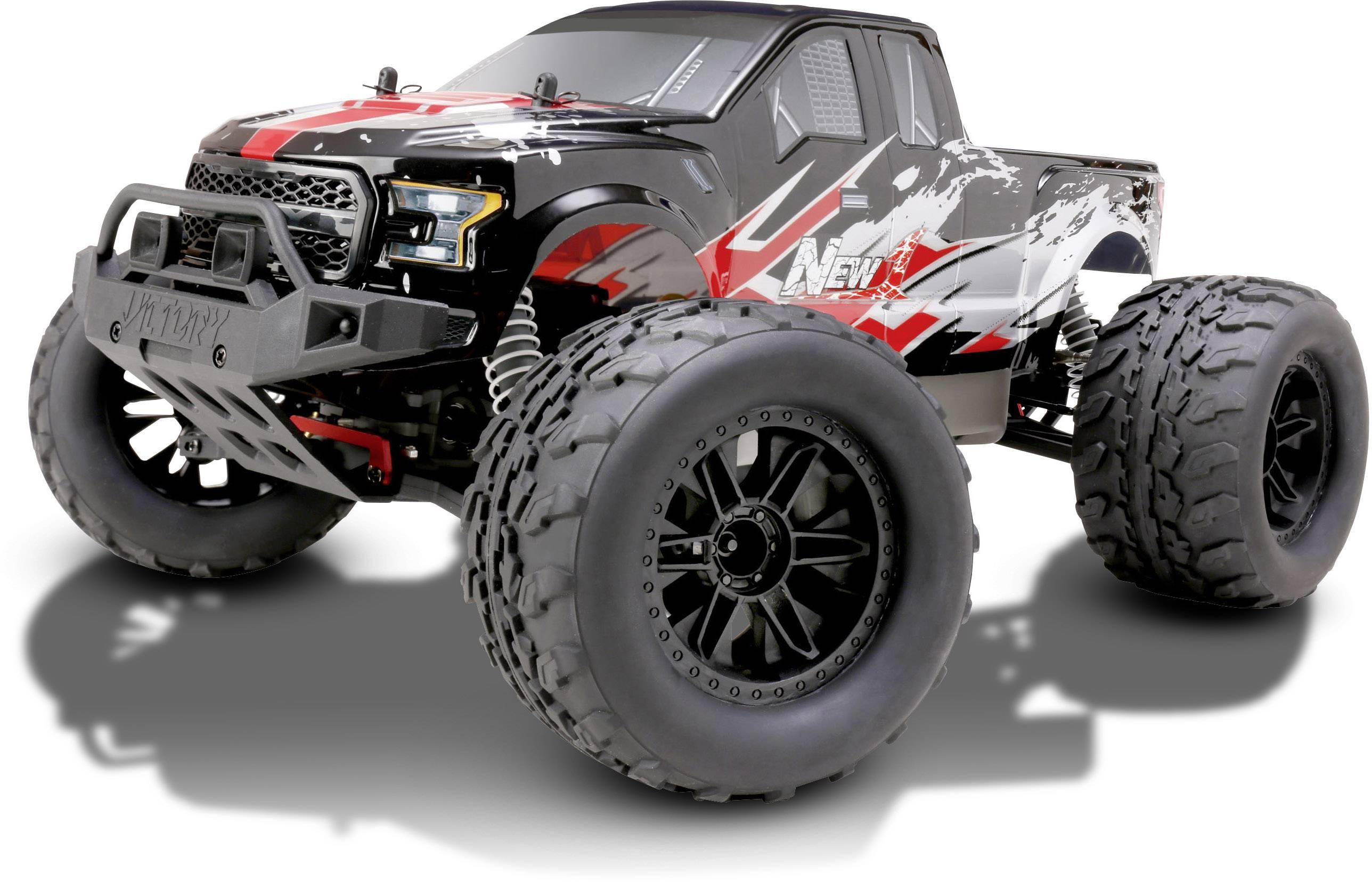 RC model auta monster truck Reely NEW1, komutátorový, 1:10, 4WD (4x4), RtR, 35 km/h