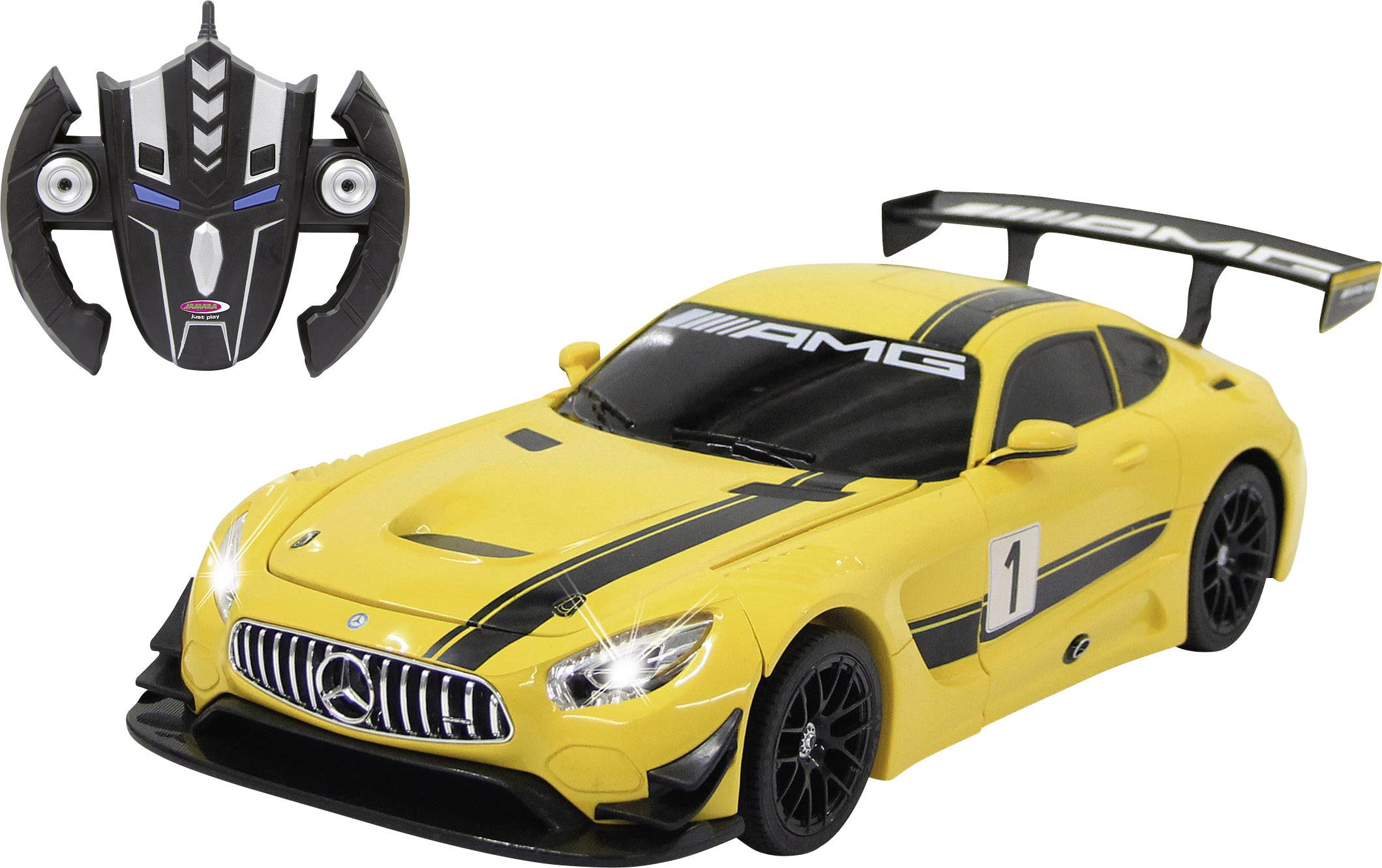 RC model auta cestný model Jamara Mercedes AMG GT3 gelb 410029, 1:14