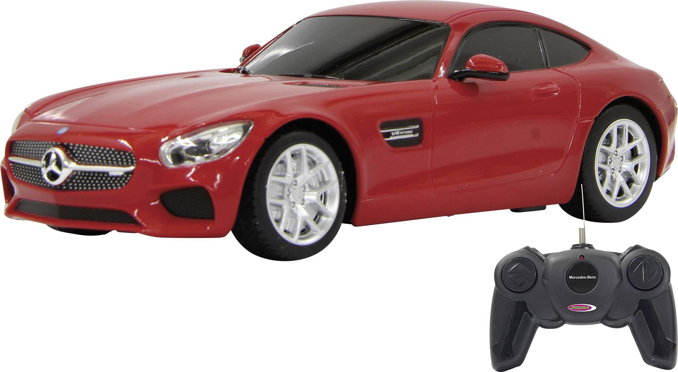 RC model auta Jamara 405075 – Mercedes AMG GT, červená, silniční vůz