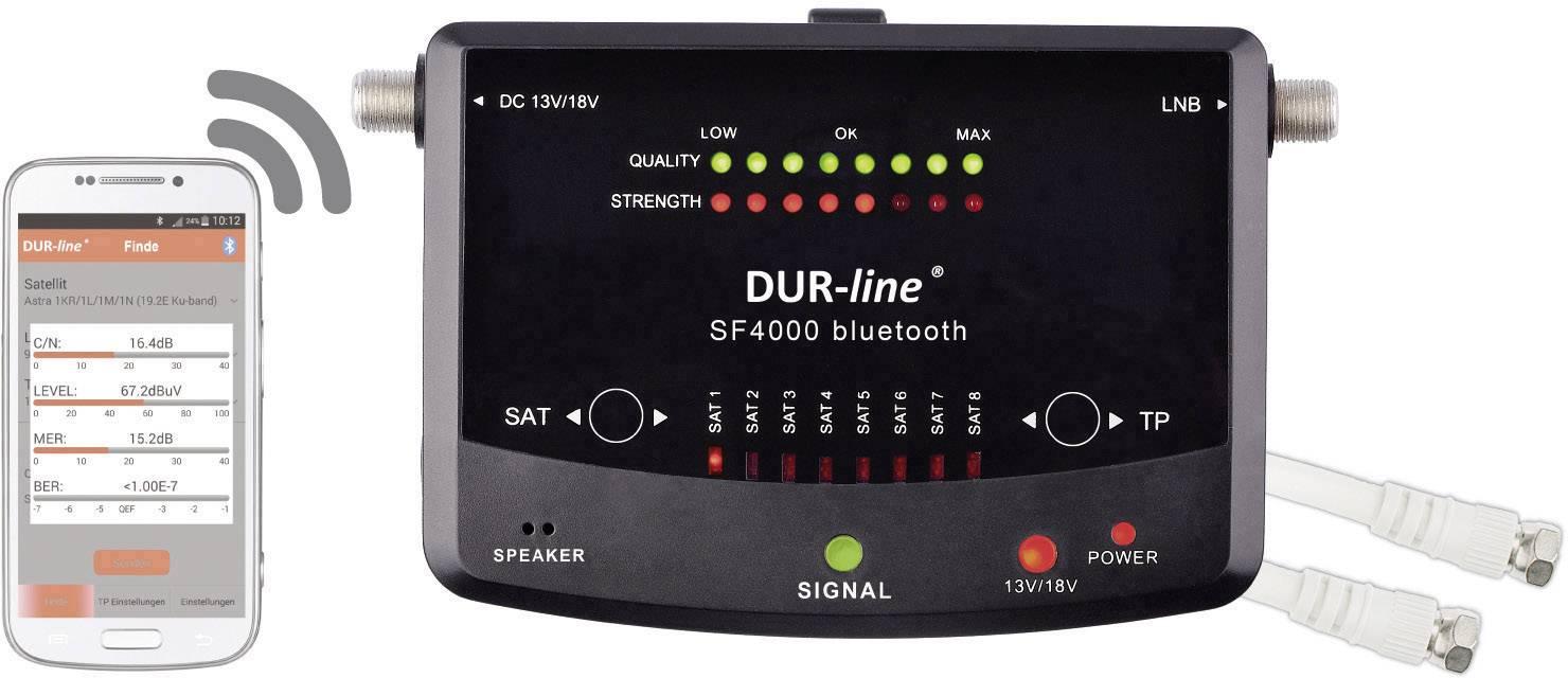 Merač a vyhľadávač satelitného signálu DVB-S/S2, DUR-line SF 4000 BT ovládaný cez smartfón