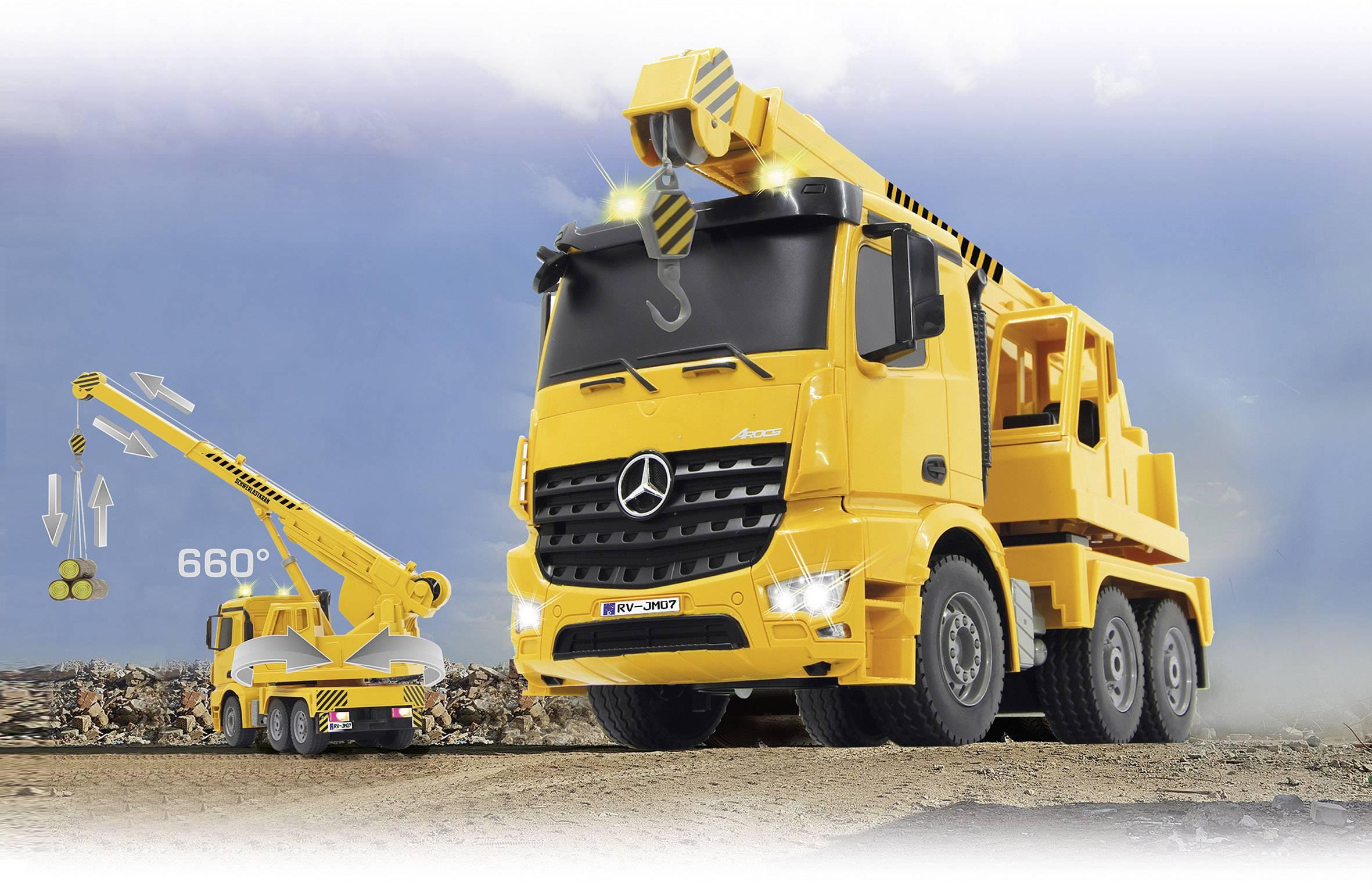 RC funkční model Jamara 404950 – autojeřáb na těžké náklady Mercedes Arocs 1:20, RtR