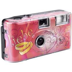 Topshot Love Hearts Black jednorázový fotoaparát 1 ks s vestavěným bleskem