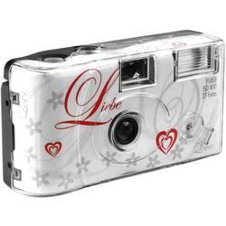 Love White jednorázový fotoaparát 1 ks s vestavěným bleskem