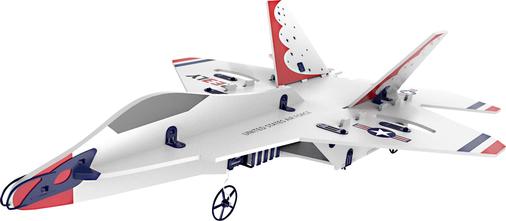 Model letadla pro začátečníky Reely F-22 DIY, RtF, 350 mm