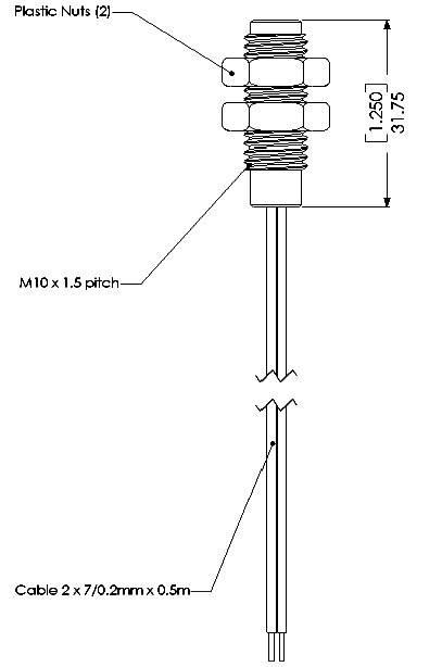 Jazyčkový kontakt TE Connectivity Sensor PS 831, 1 spínací, 100 V/DC, 250 V/AC, 1 A, 10 W