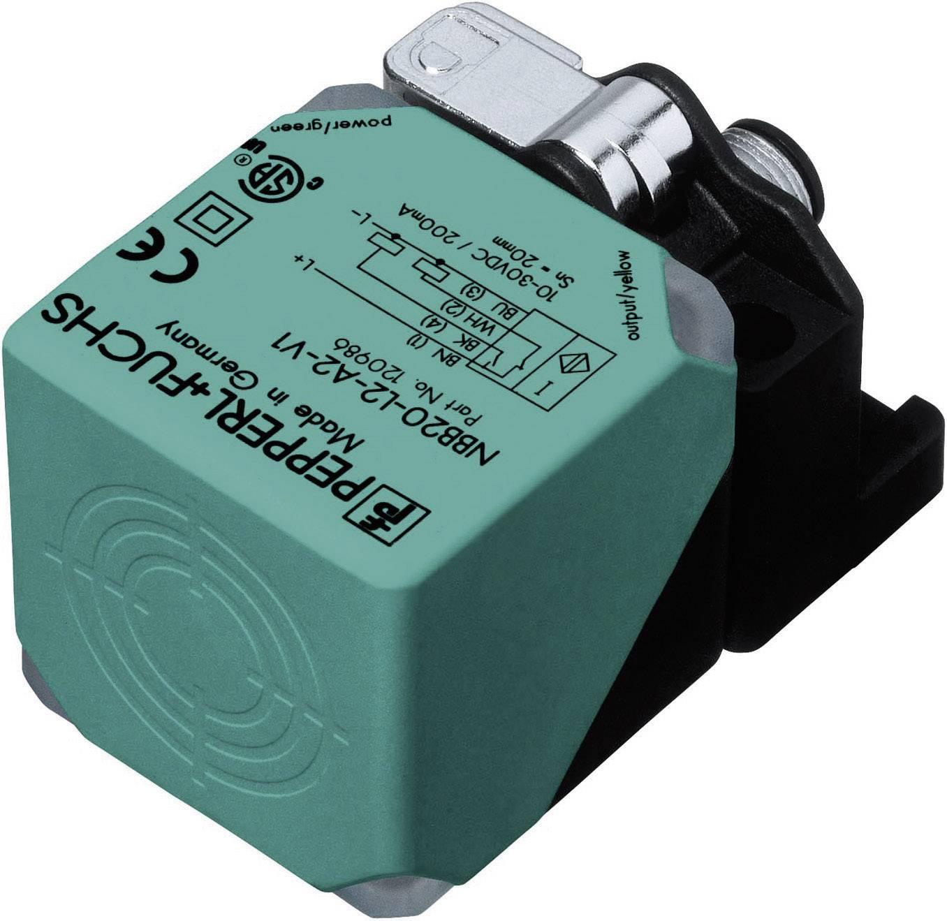 Indukčný senzor priblíženia Pepperl & Fuchs NBB20-L2-A2-V1, 40 x 40 mm, spínacia vzdialenosť (max.) 20 mm