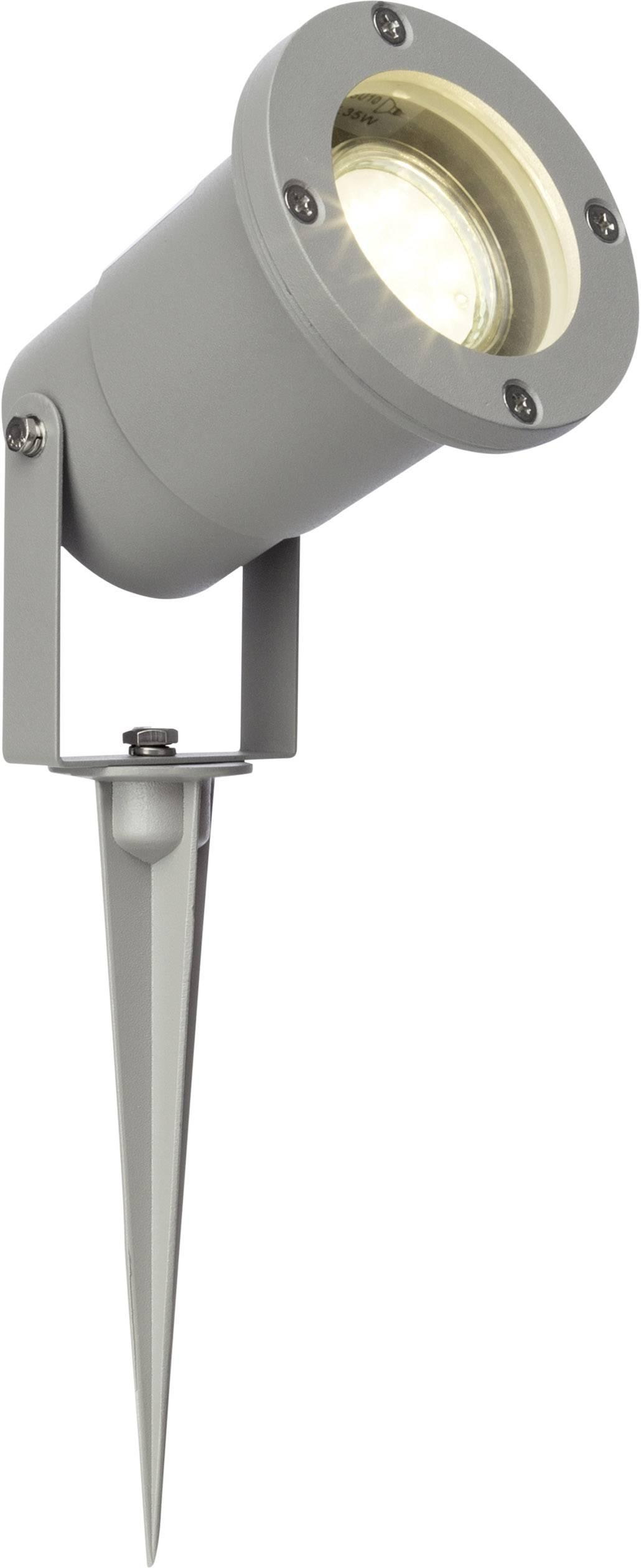 LED zahradní reflektor Brilliant Janko G96232/22, GU10, 3 W, šedá