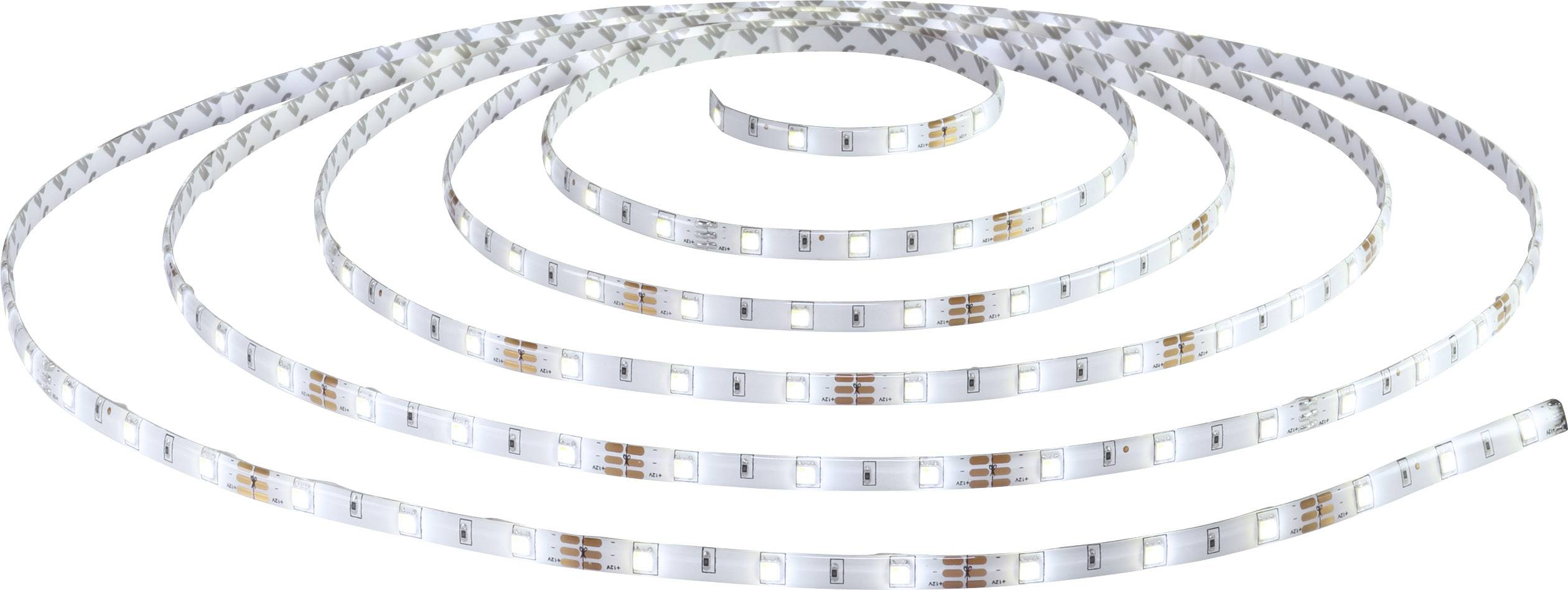 Kompletní sada LED pásků Polarlite 12 V/DC, 24 W, studená bílá, teplá bílá, 500 cm