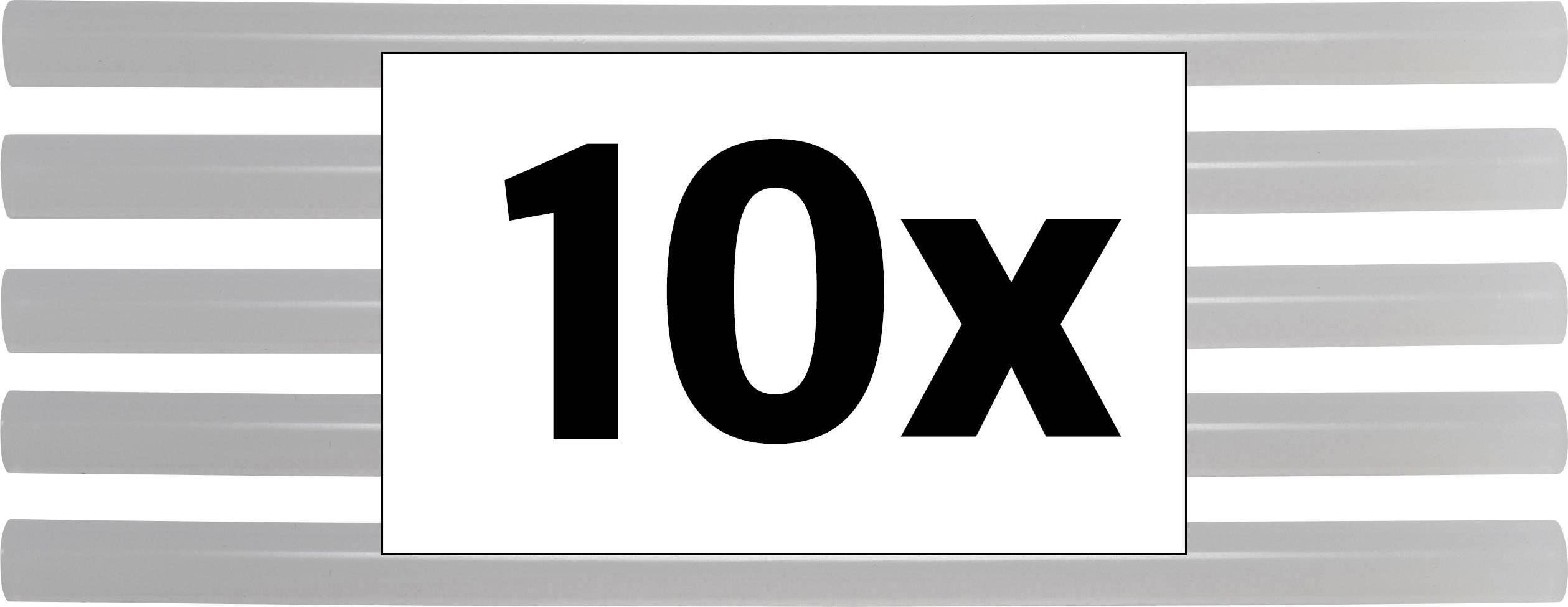 Lepicí tyčinky TOOLCRAFT TC-11200X10T 1553627, Ø 11 mm, 10 ks, transparentní