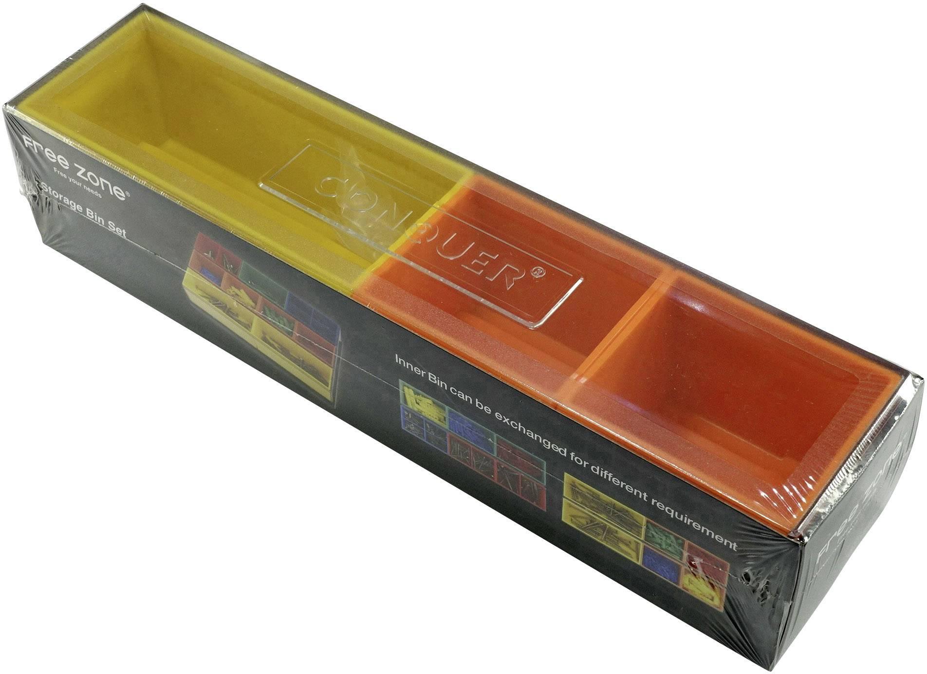 Sada úložných boxů na nářadí 1553643, (d x š x v) 278 x 62 x 60 mm