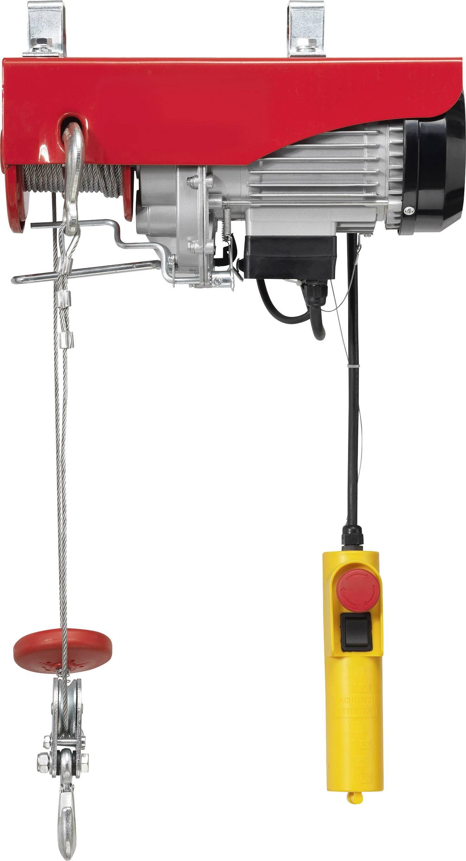 Elektrický lanový kladkostroj TOOLCRAFT 1553741, 200 kg/400 kg, zdvih 18000 mm/9000 mm