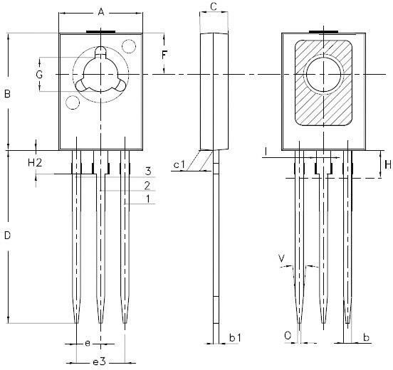NPN tranzistor (BJT) - Single STMicroelectronics BD135, SOT-32, Kanálov 1, 45 V