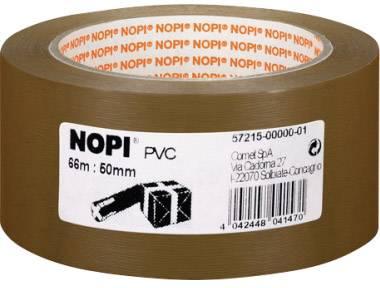 Balicí lepicí páska Nopi 57215-00000, (d x š) 66 m x 50 mm, hnědá, 1 role