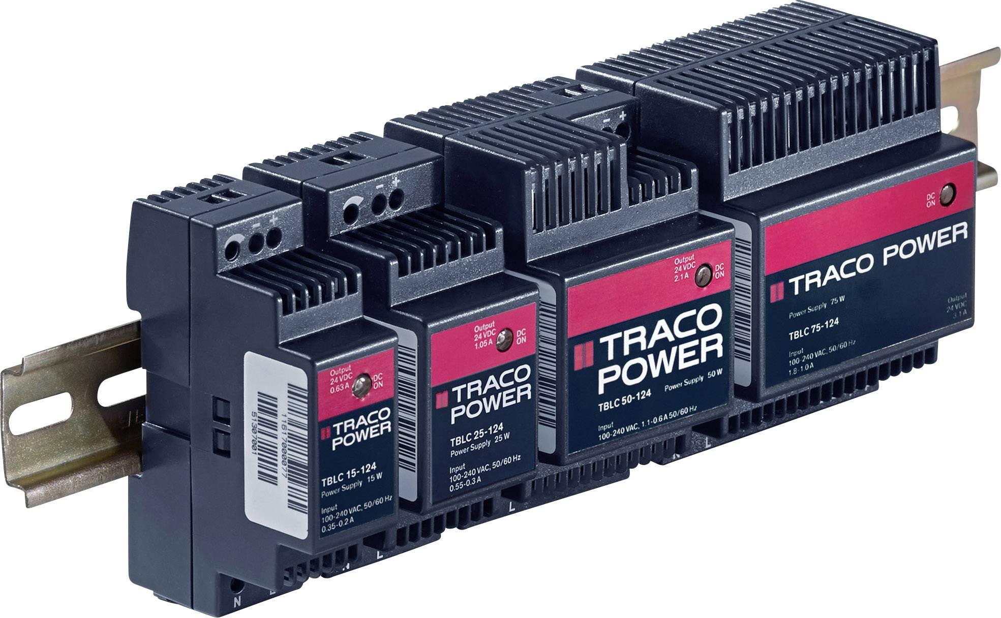 Síťový zdroj na DIN lištu TracoPower TBLC 06-124, +28 V/DC, 250 mA, 6 W