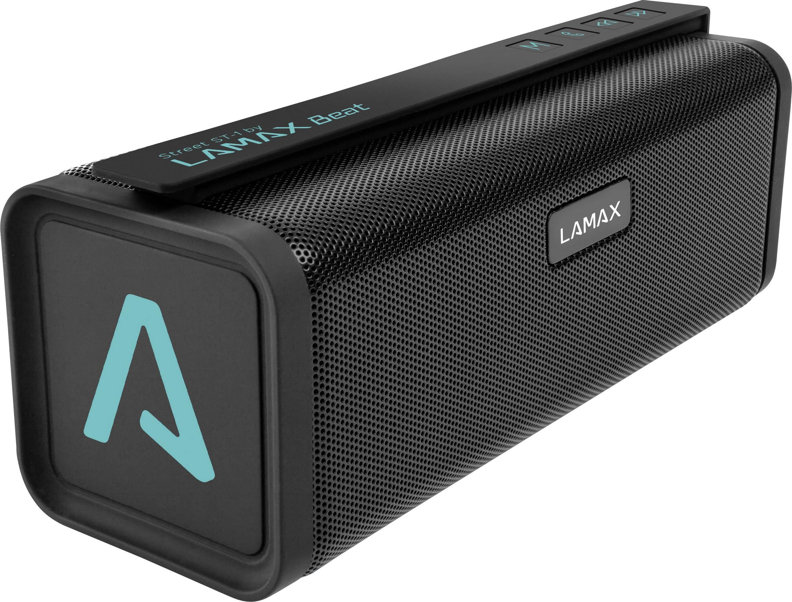 Bluetooth® reproduktor Lamax Street ST-1 FM rádio, hlasitý odposlech, SD paměť. karta, USB, černá, tyrkysová