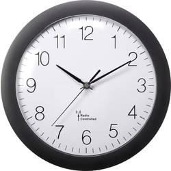 DCF nástěnné hodiny Basetech 1555968, vnější Ø 300 mm, černá