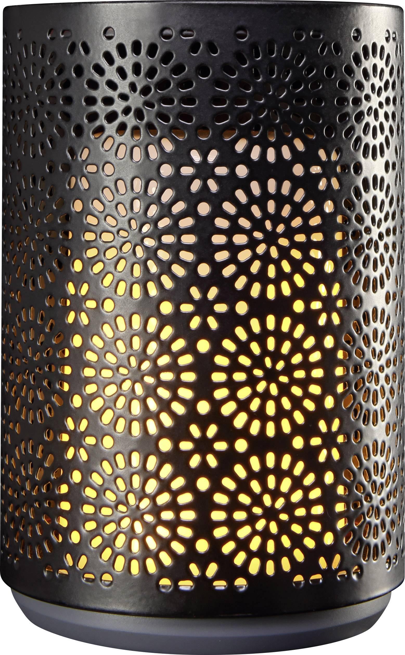 Dekorační svícen s LED svíčkou Polarlite Dance, 1 ks, černá