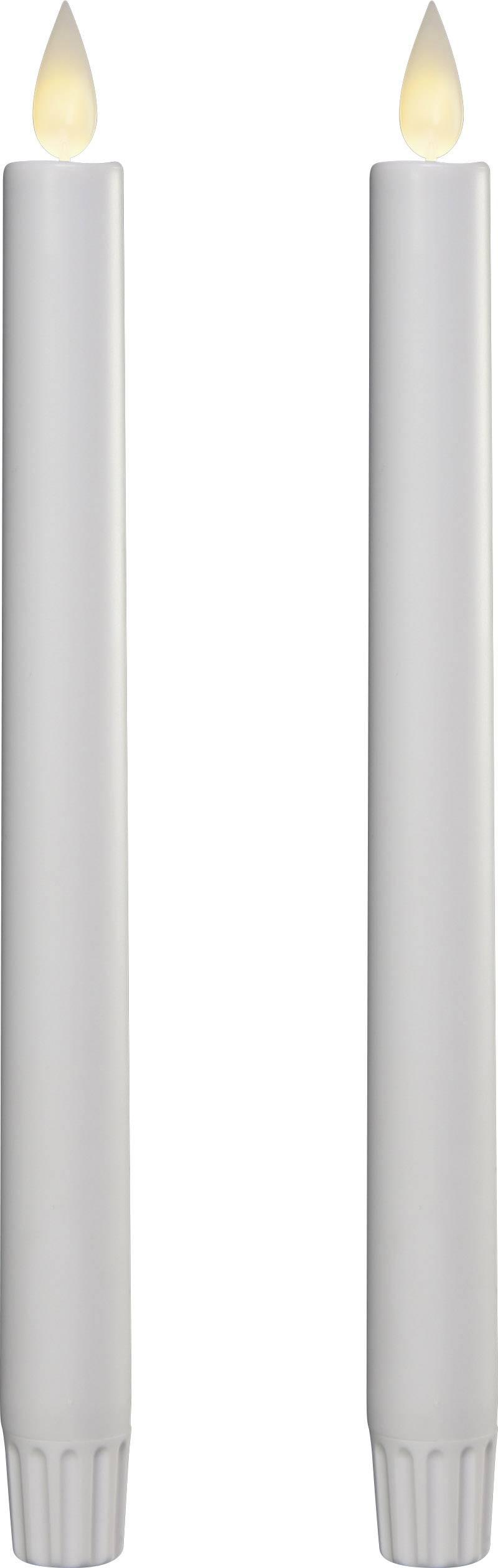 Dekorační LED svíčka do svícnu Polarlite 2 ks, bílá