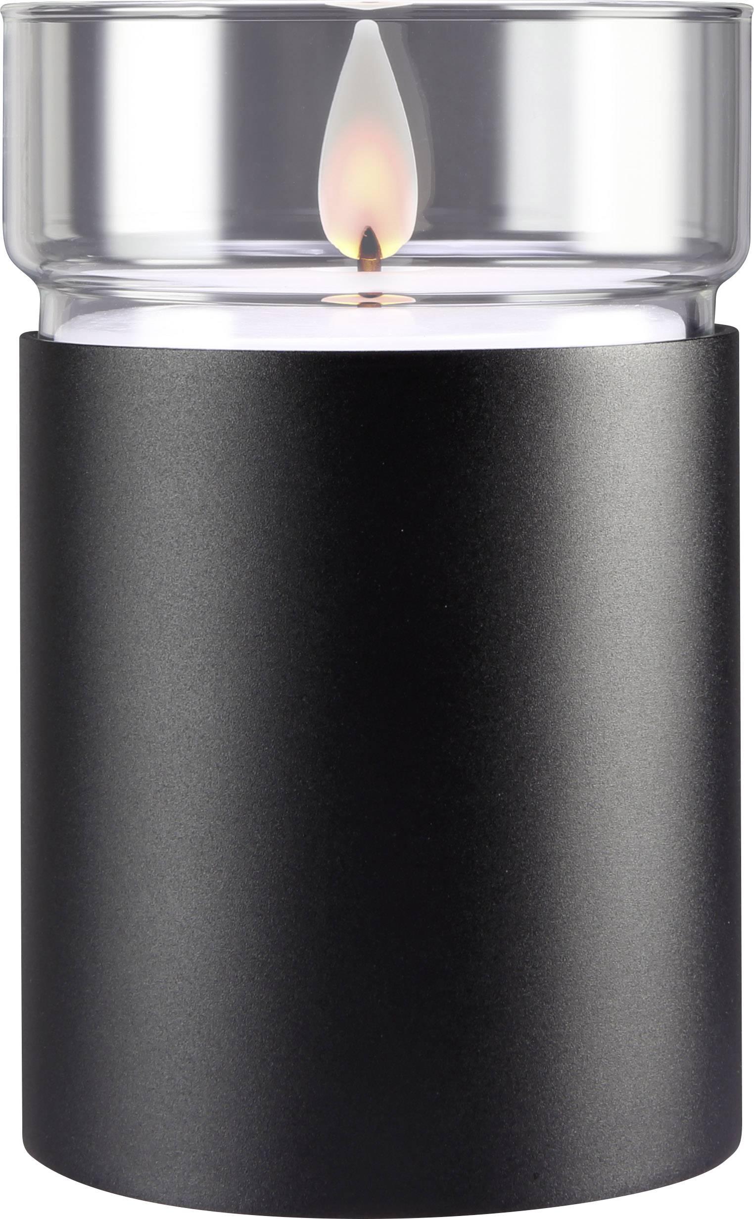 LED vosková svíčka Polarlite 1 ks, černá