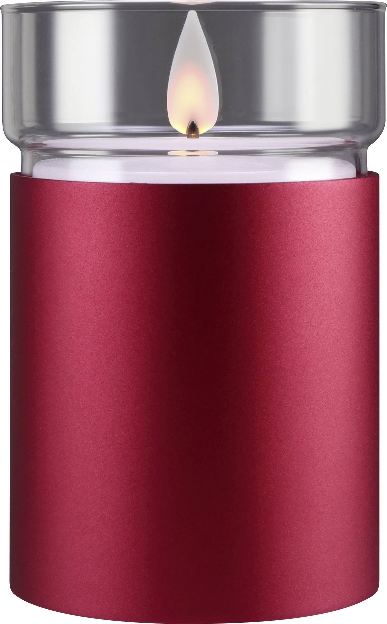 Vnútorné LED vosková sviečka Polarlite 1 ks, vínovo červená