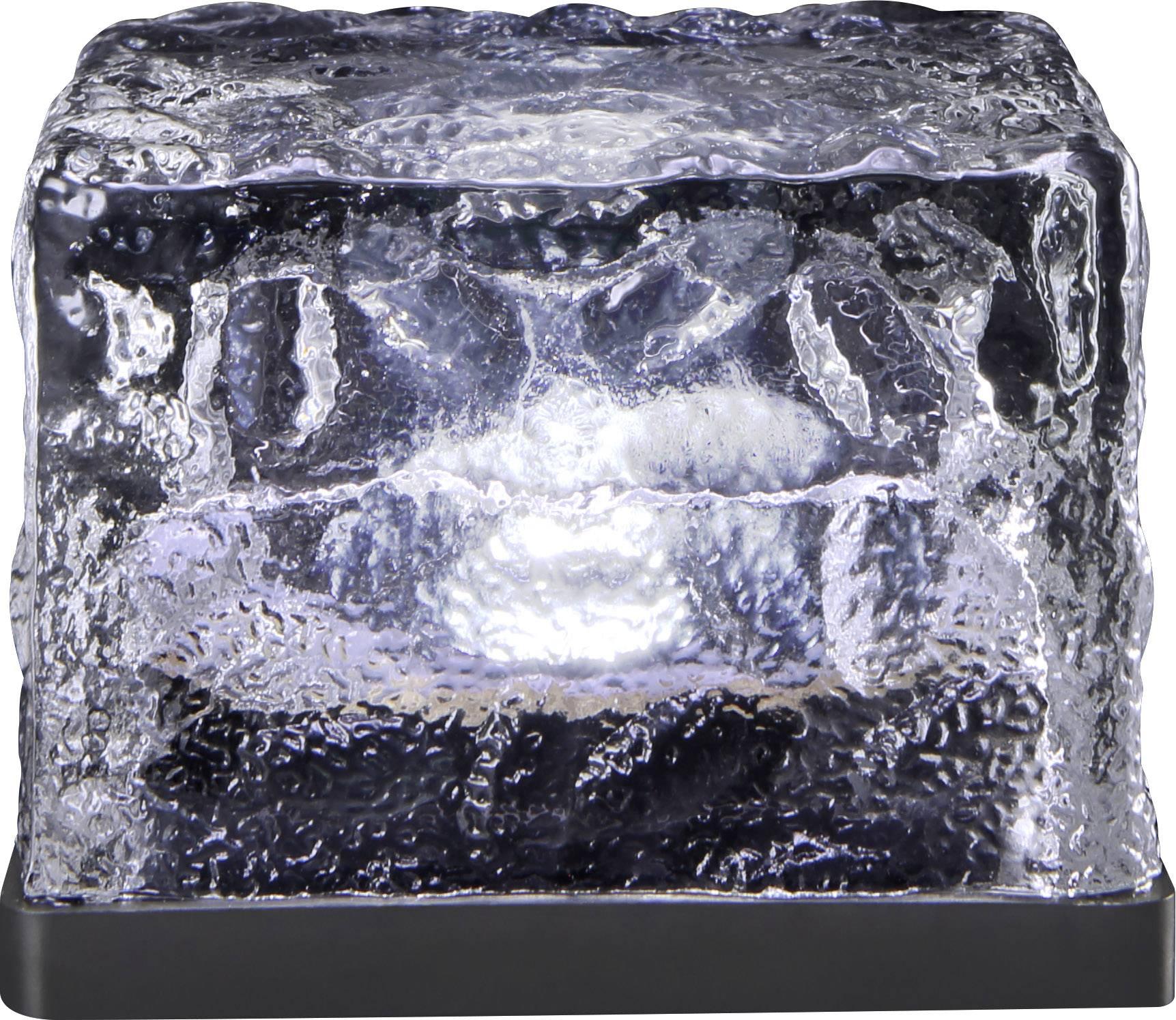 LED solární dekorativní osvětlení – kostka ledu Polarlite 0.08 W, IP44, studená bílá