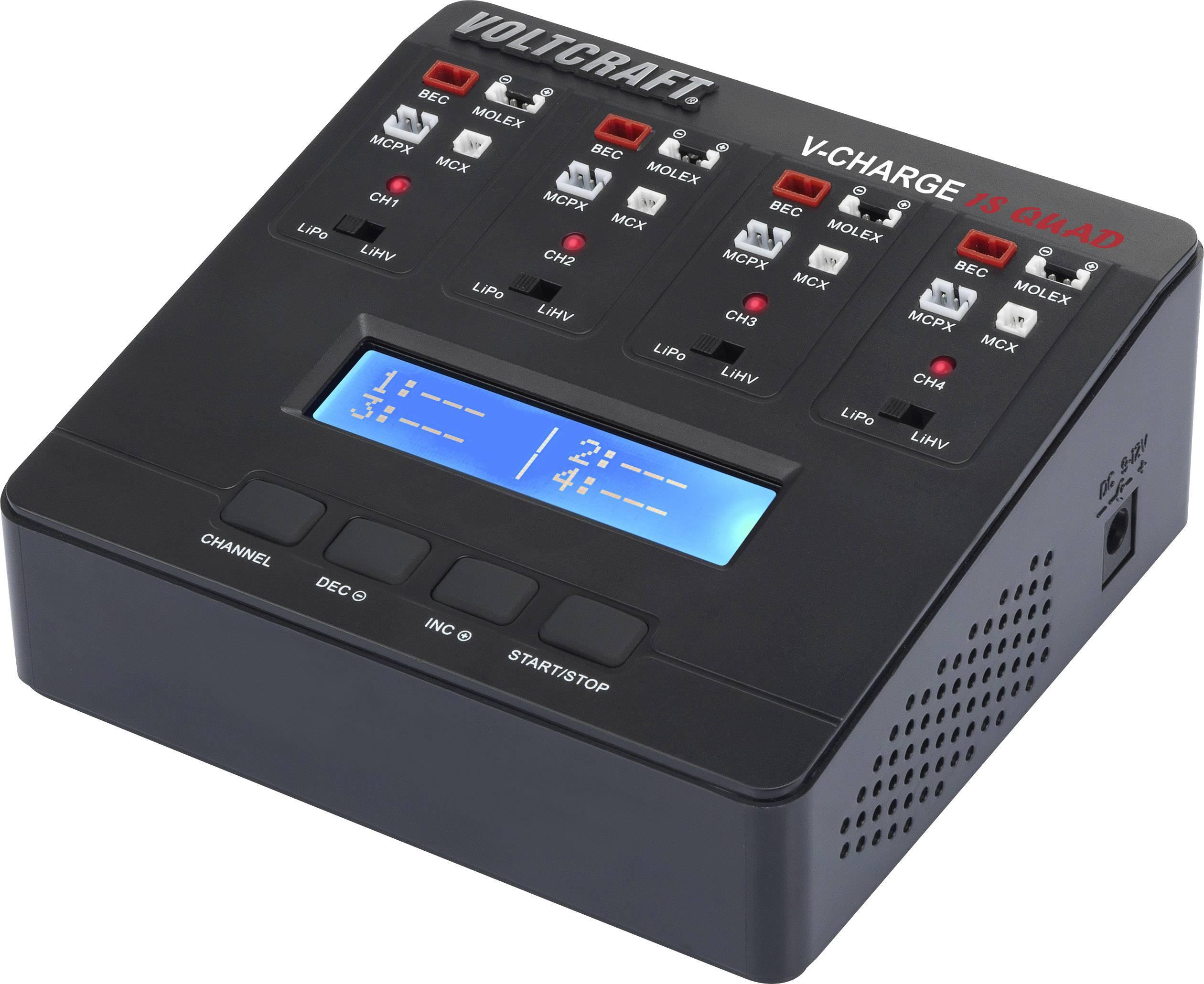 Modelářská nabíječka VOLTCRAFT V-Charge 1S Quad 12 V, 230 V, 1 A