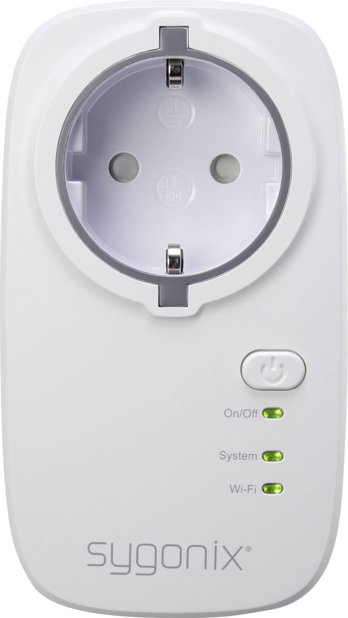 Bezdrôtová spínacia a meracia zásuvka s Wi-Fi do interiéru Sygonix CP1M