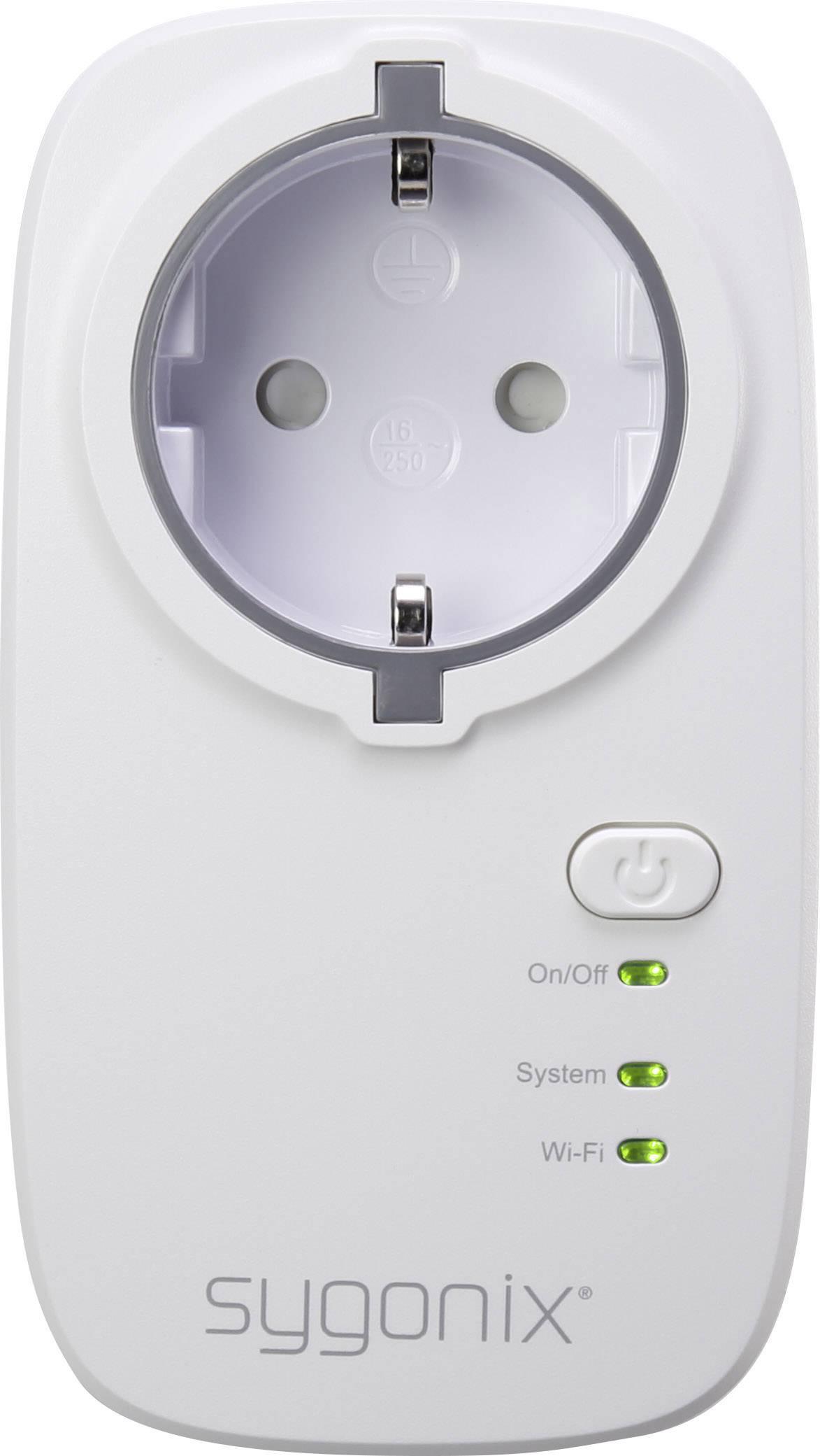 Bezdrôtová spínacia zásuvka s Wi-Fi do interiéru Sygonix CP1