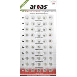 Arcas sada knoflíkových baterií knoflíkové, 50 ks