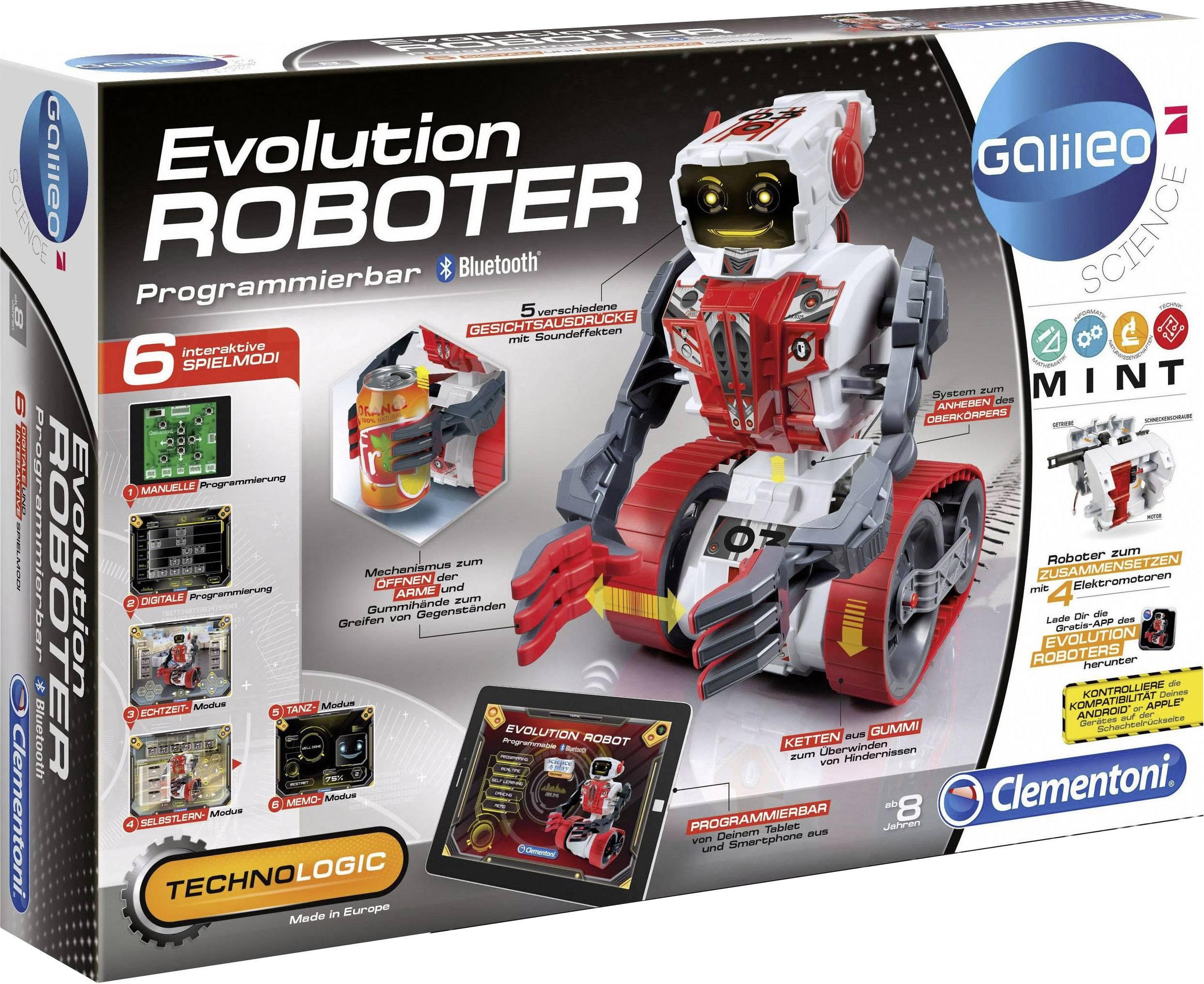 Experimentálna stavebnica robota Clementoni Galileo Evolution Roboter, ovládanie smartfónom