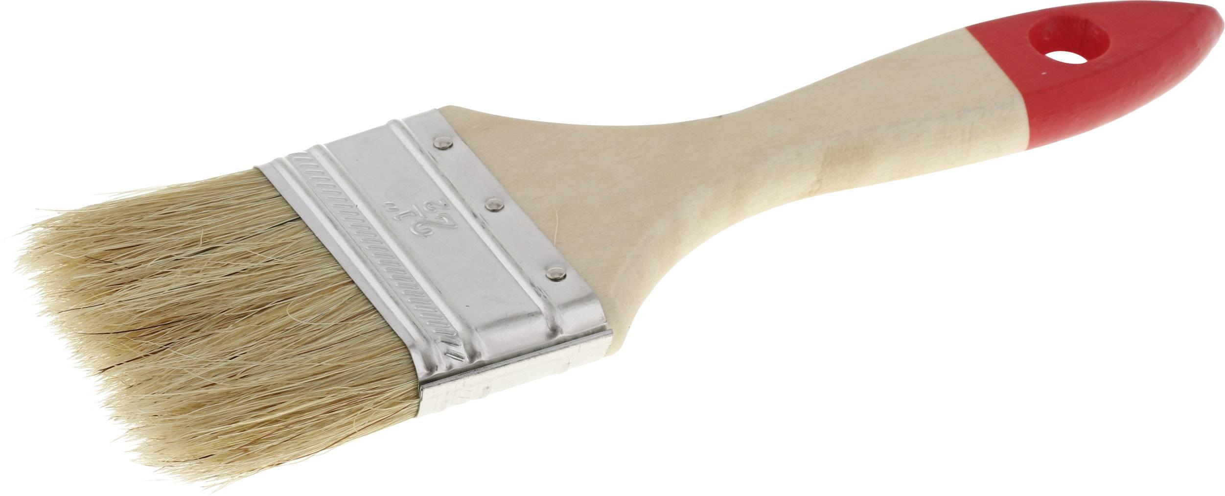 Přírodními štětinami plochý štětec tloušťka 5 TOOLCRAFT délka štětin:38 mm