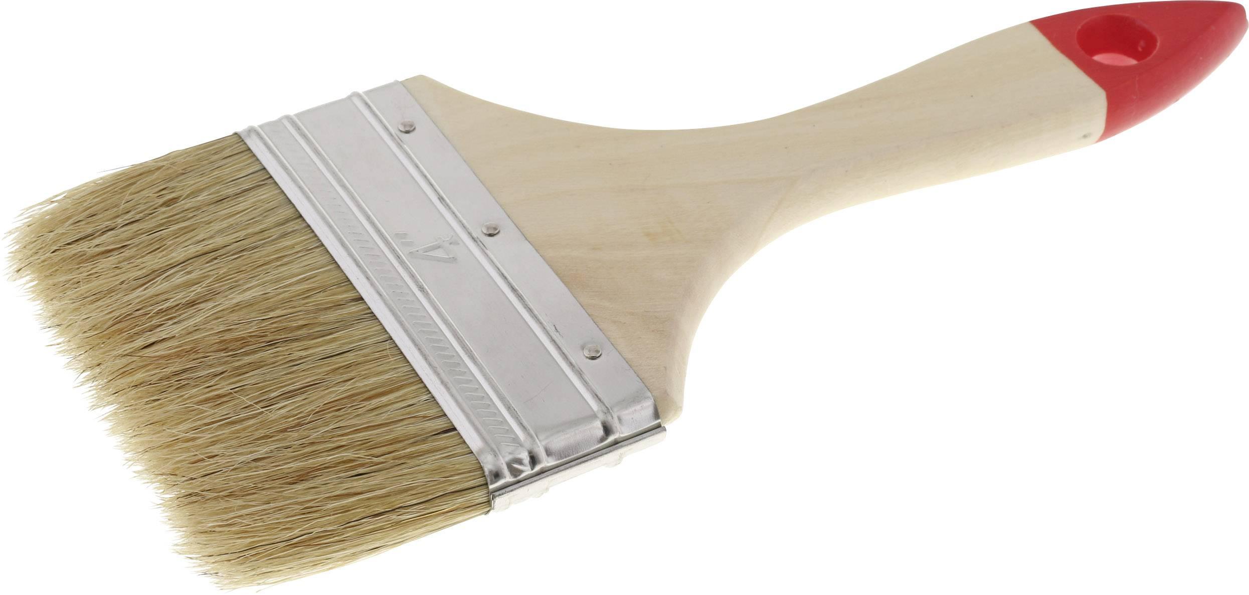 Přírodními štětinami plochý štětec tloušťka 5 TOOLCRAFT délka štětin:44 mm