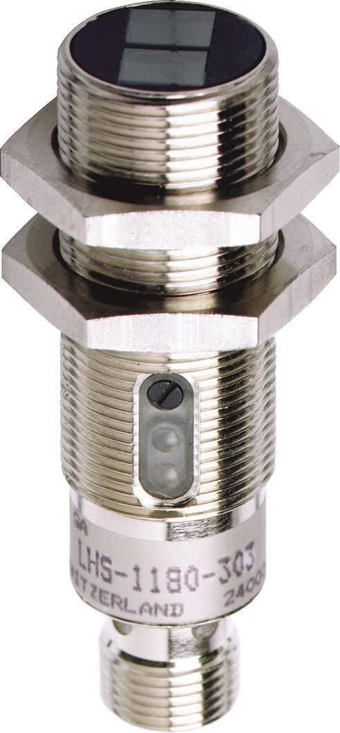 Reflexní optický snímač s HGA série M18 Contrinex LHS-1180-303, konektor M12, dosah 10 - 120 mm
