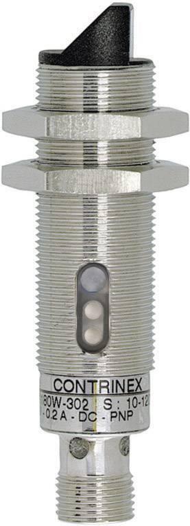 Reflexní optická závora série M18 Contrinex LRS-1180W-304, konektor M12, dosah 2 m