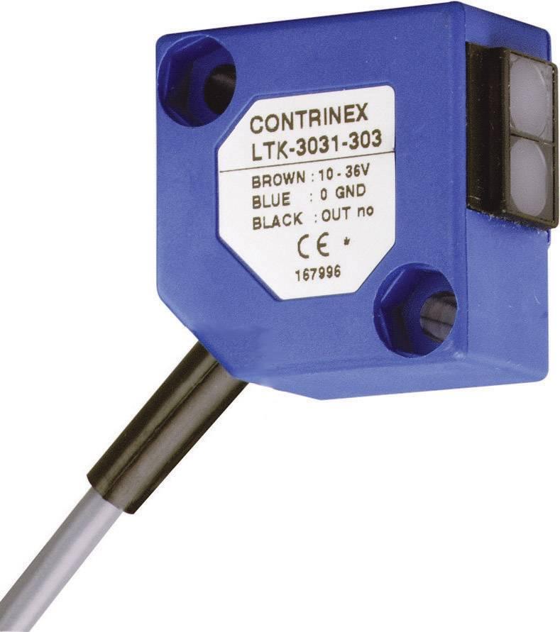 Reflexný optický snímač CONTRINEX LTK-3031-303, dosah 600 mm, kábel 2 m