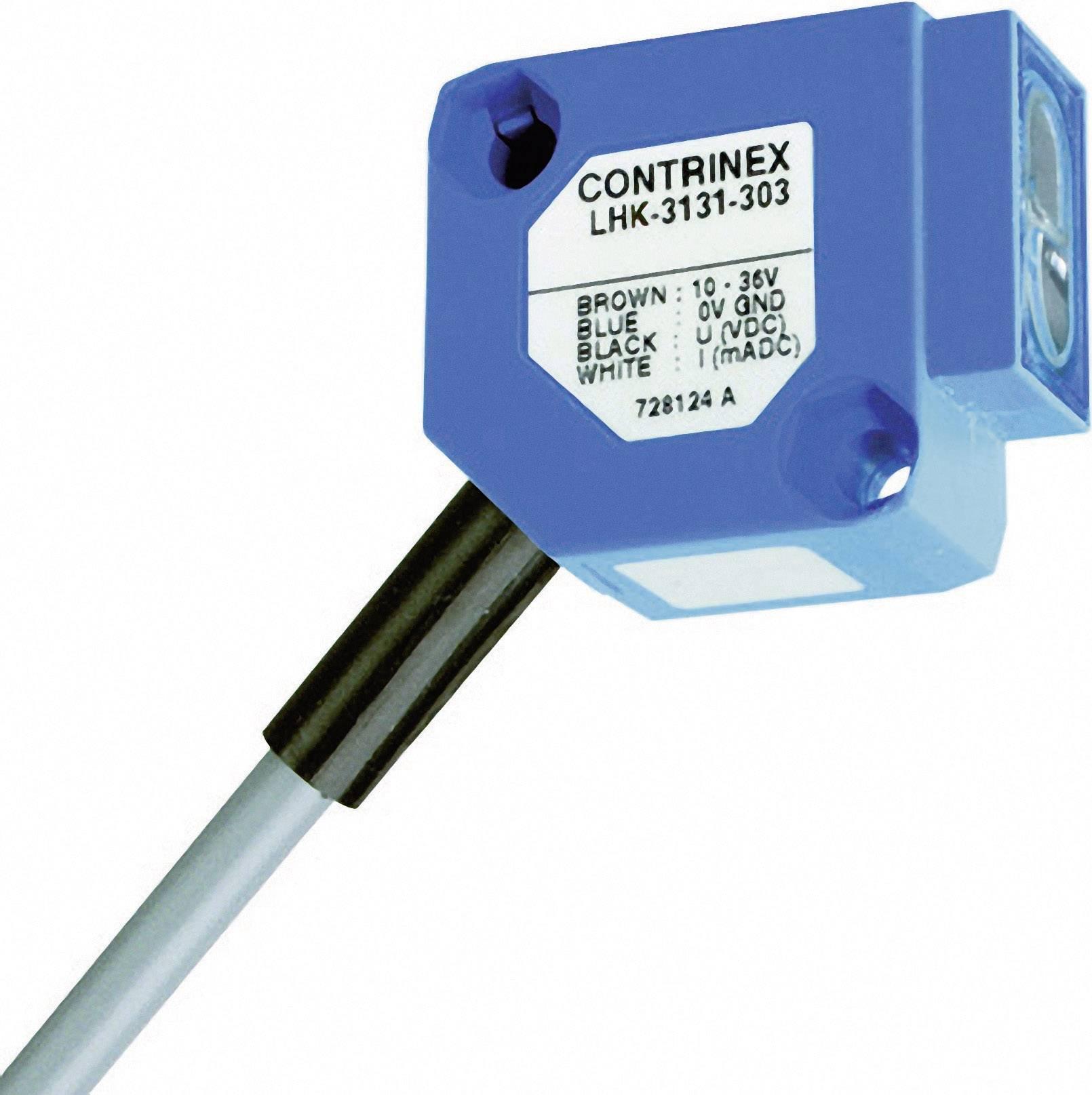Reflexný optický snímač CONTRINEX LHK-3131-303 s HGA, dosah 15 - 200 mm, kábel 2 m