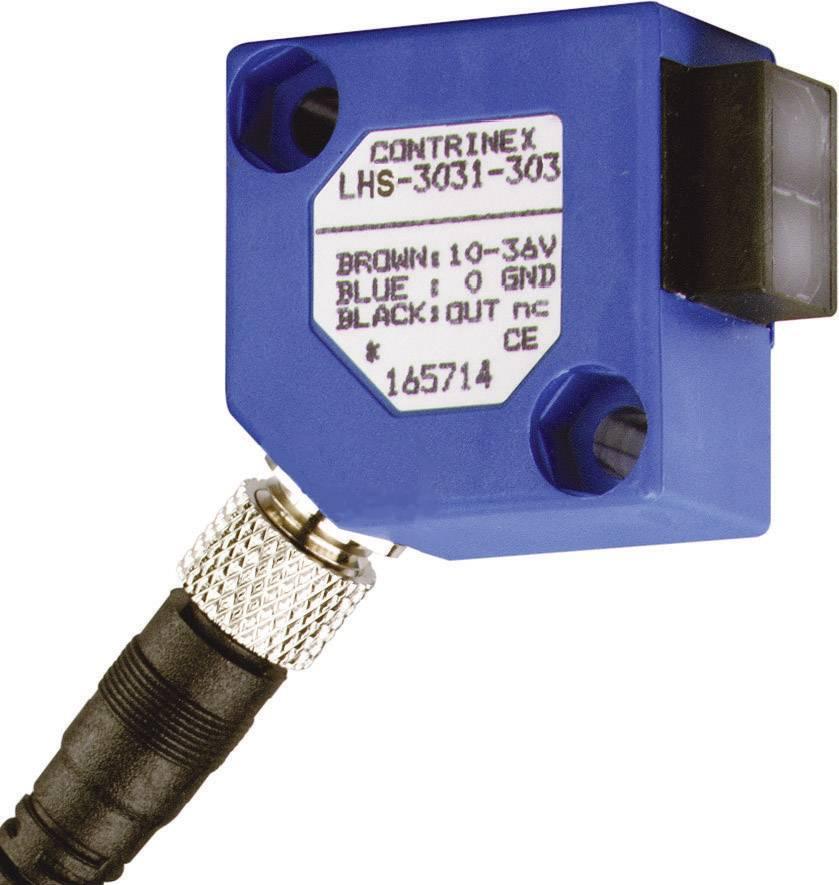 Reflexný optický snímač CONTRINEX LHS-3131-303 s HGA, dosah 15 - 200 mm, konektor M8 3pol.