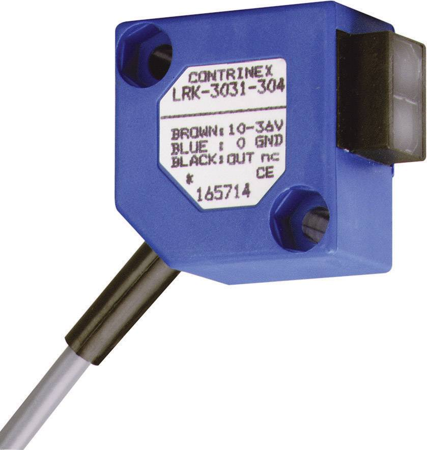 Reflexná optická závora CONTRINEX LRK-3031-304, dosah 2000 mm, kábel 2 m