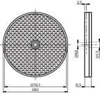 Reflexná odrazka pre svetelnú závoru CONTRINEX LXR-0000-084, 622 000 005, ⌀ 84 mm