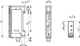 Zosilňovač optických vlákien na DIN lištu Contrinex LFS-3060-103, konektor M8, 4pol.