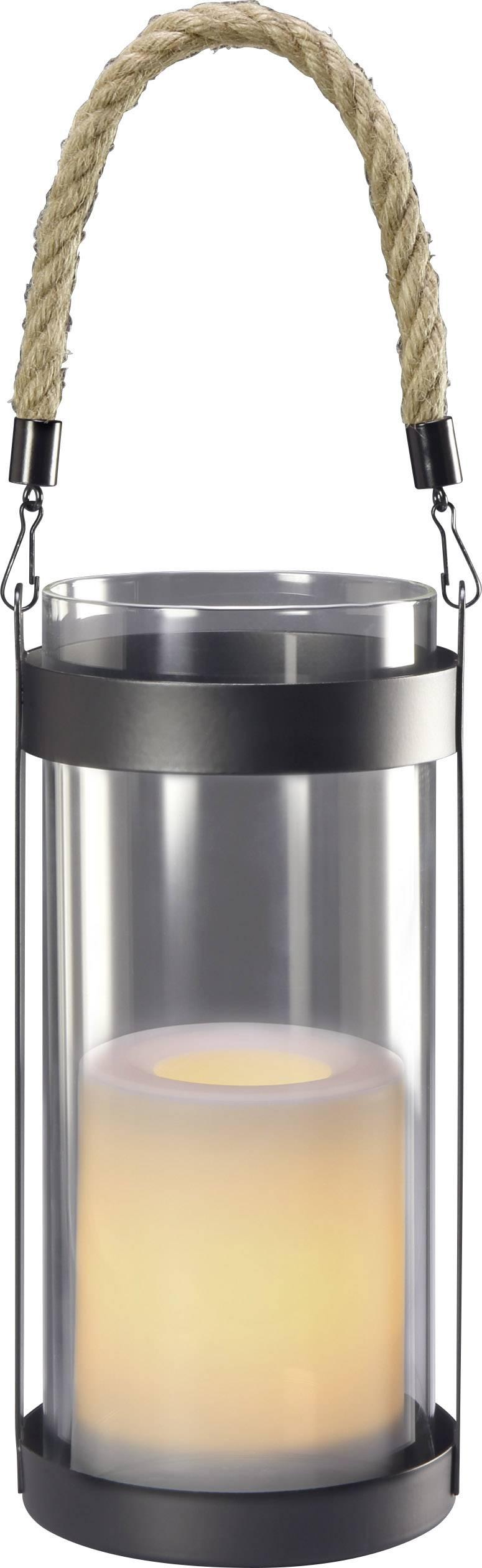 LED lucerna se svíčkou Polarlite (Ø x v) 10 cm x 21 cm teplá bílá