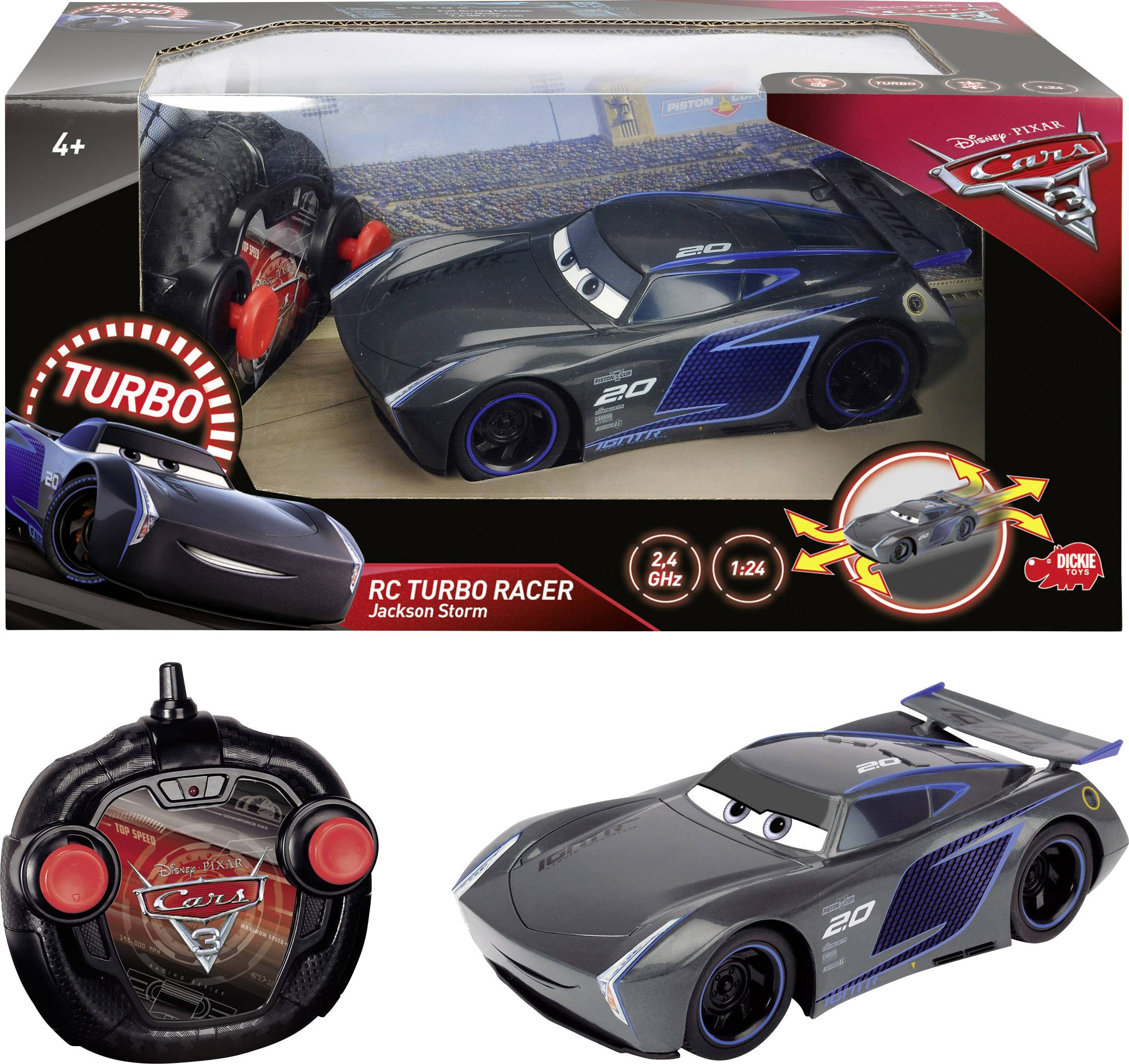 RC model auta Dickie Toys RC Cars 3 Turbo Racer Jackson Storm 203084005, silniční vůz