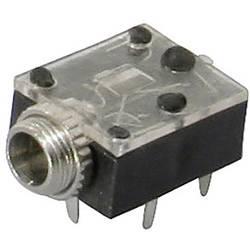 Jack konektor 3.5 mm stereo zásuvka, vstavateľná horizontálna TRU COMPONENTS 3, čierna, 1 ks