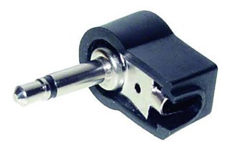 Jack konektor 3.5 mm čiernobiela zástrčka, zahnutá TRU COMPONENTS 2, čierna, 1 ks