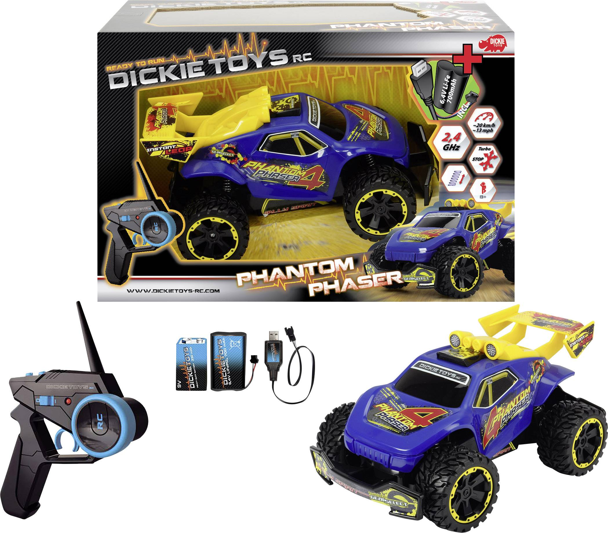 RC model auta buggy Dickie Toys Phantom Phaser 201119110, 1:16