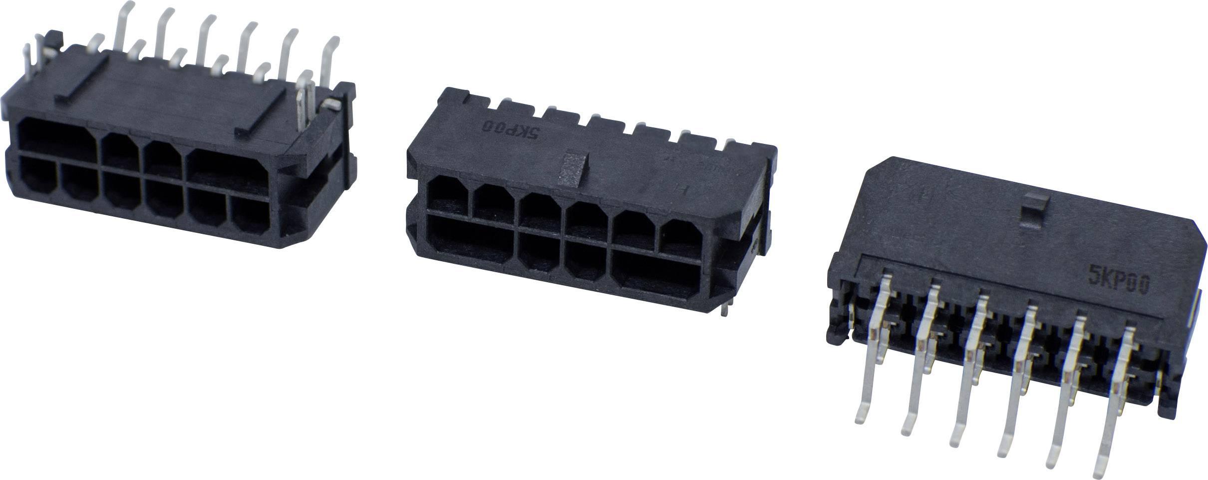 Pinová lišta (štandardná) BellWether 70096-0608, pólů 6, rozteč 3 mm, 1 ks